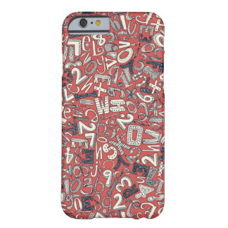 A1B2C3 coral red Barely There iPhone 6 Case