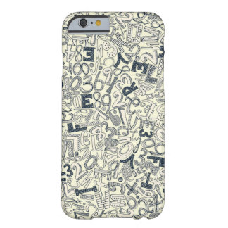 A1B2C3 indigo ivory Barely There iPhone 6 Case