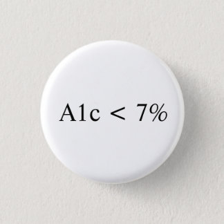 A1c < 7% 1 inch round button
