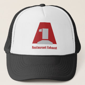 A1LogoLarge, Restaurant Exhaust Trucker Hat