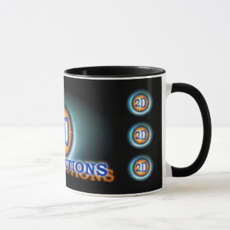 a2Dproduction Mug With Orange Border