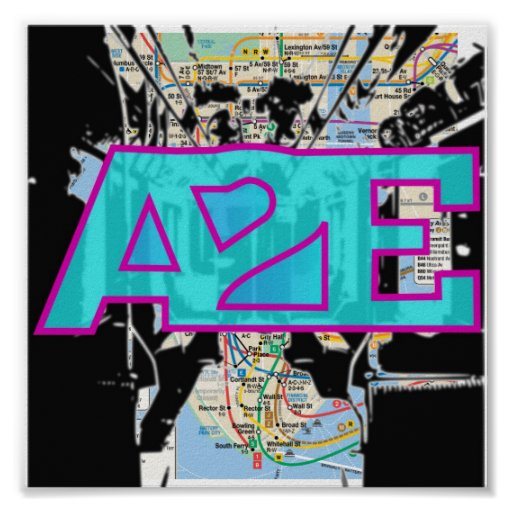 A2E subway map Posters