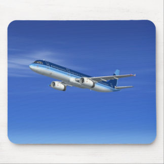 A321 Jet Airliner Aircraft Mouse Pads