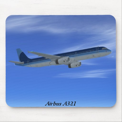 A321 Jet Airliner Aircraft Mousepad