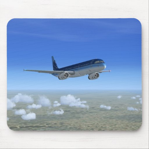 A321 Jet Airliner Aircraft Mousepads