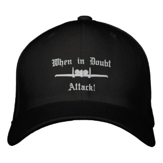 A-10 Attack Golf Hat W/Call Sign on Back Embroidered Baseball Cap