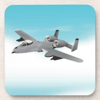 A-10 Bomber Aircraft Drink Coaster