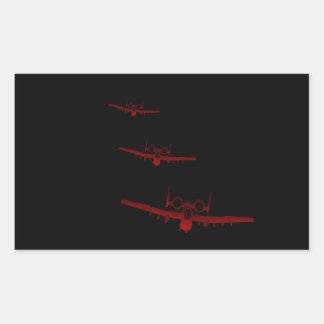 A-10 RECTANGULAR STICKER