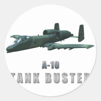A-10 Tankbuster Round Sticker