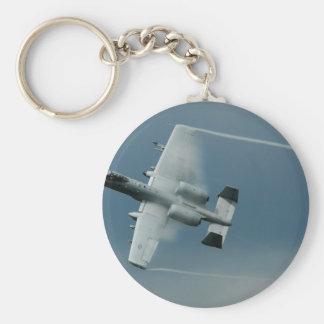 A-10 Thunderbolt Basic Round Button Keychain