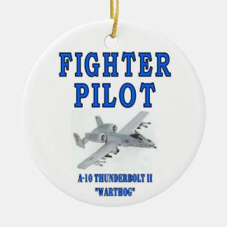 A-10 THUNDERBOLT II ROUND CERAMIC ORNAMENT