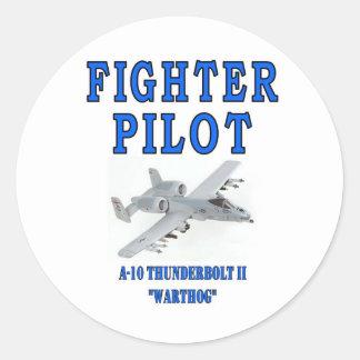 A-10 THUNDERBOLT II warthog Round Sticker