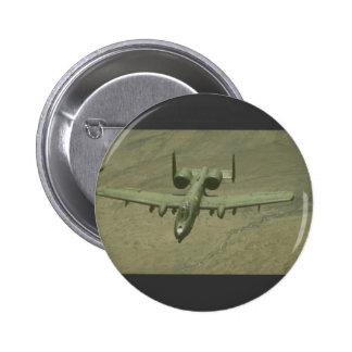 A-10 Warthog anti-tank aircraft, aerial shot 2 Inch Round Button