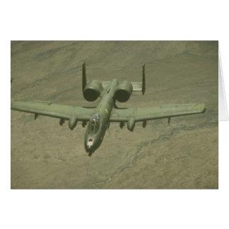 A-10 Warthog anti-tank aircraft, aerial shot Greeting Card