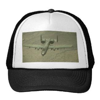 A-10 Warthog anti-tank aircraft, aerial shot Mesh Hat