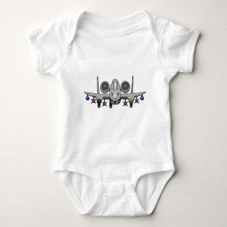A-10 Warthog Fighter Baby Bodysuit