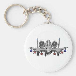 A-10 Warthog Fighter Basic Round Button Keychain