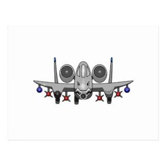 A-10 Warthog Fighter Postcard