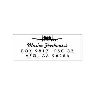 A-10 Warthog Jet Custom Return Address Wood Stamp