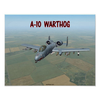 A-10 WARTHOG POSTERS