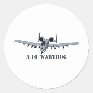 A-10 Warthog Round Sticker