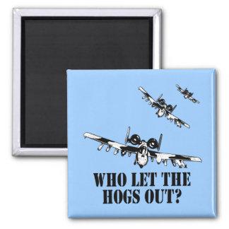 A-10 Warthog Square Magnet