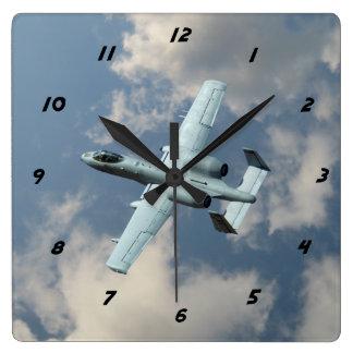 A-10 Warthog Square Wall Clock