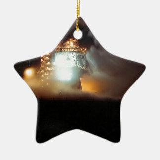 A-1 Test Stand Night Firing Ceramic Star Ornament