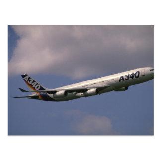 A-340 airbus, European airliner Postcard