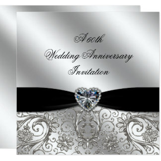 A 60th Diamond Wedding Anniversary Invite