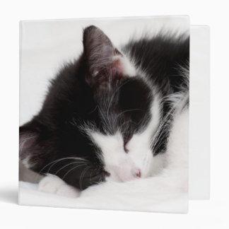 A 9-Week Old Kitten Sleeping (Felis Catus) Vinyl Binder