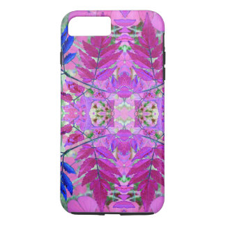 A abstract Pink Blue Floral Pattern iPhone 7 Plus Case