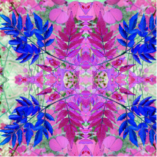 A abstract Pink Blue Floral Pattern Standing Photo Sculpture