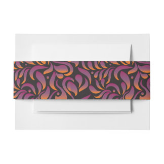 A Aleph Hebrew Collection Bat Mitzvah Belly Band Invitation Belly Band