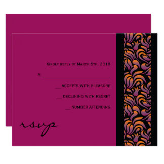 A Aleph Hebrew Collection Bat Mitzvah Reply Card