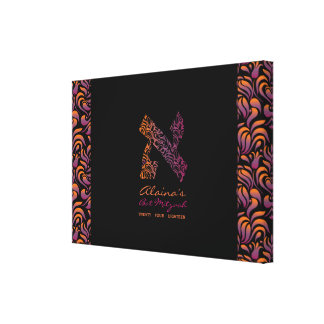 A Aleph Hebrew Letter Bat Mitzvah Sign-In Board Canvas Print