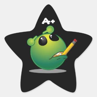 A+ Alien Star Stickers