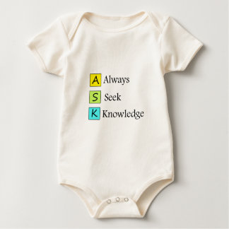a always s seek k knowledge baby bodysuit