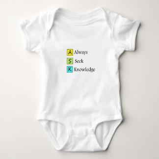 a always s seek k knowledge baby bodysuit