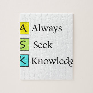 a always s seek k knowledge jigsaw puzzle
