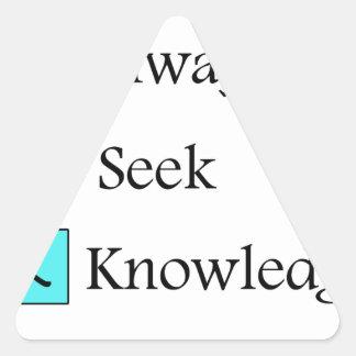 a always s seek k knowledge triangle sticker