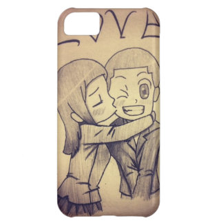 a anime drawing, love iPhone 5C cover