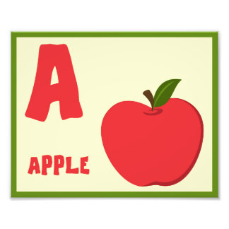 A Apple Cute Wall Art for Nursery or Child's Room