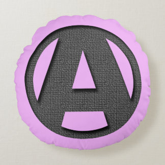 A as in freedom round pillow
