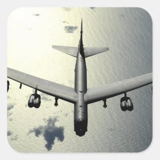 A B-52 Stratofortress in flight 2 Square Sticker