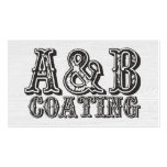 A&B COATING (CUSTOM DESIGN REQUEST) PACK OF STANDARD BUSINESS CARDS