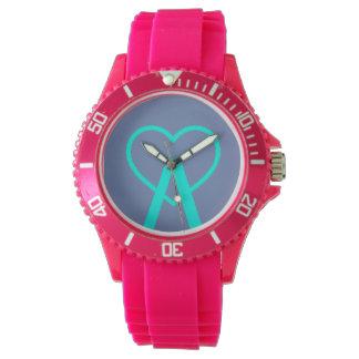 A&B Pink A~Heart Watch