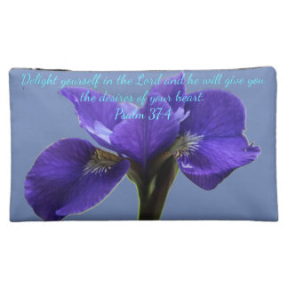 A&B Royal Iris A~Heart Cosmetic Bag