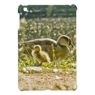a baby duck with its mom case for the iPad mini