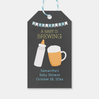 A Baby is Brewing BABY-Q Gift Tags (Boy) Pack Of Gift Tags